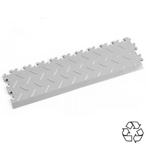 Light Grey Recycled Diamond Plate - Tile Edging PVC